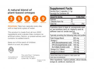 Juice Plus+® Omega Blend Ingredients