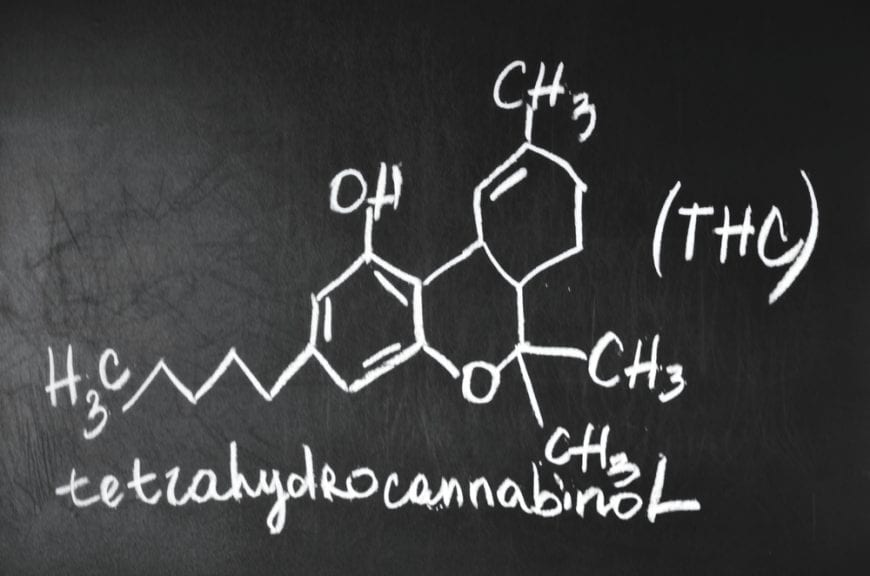 Chemical Formula of THC